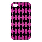 DIAMOND1 BLACK MARBLE & PINK BRUSHED METAL Apple iPhone 4/4S Premium Hardshell Case