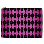 DIAMOND1 BLACK MARBLE & PINK BRUSHED METAL Cosmetic Bag (XXL)