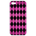 DIAMOND1 BLACK MARBLE & PINK BRUSHED METAL Apple iPhone 5 Hardshell Case