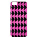 DIAMOND1 BLACK MARBLE & PINK BRUSHED METAL Apple iPhone 5 Seamless Case (White)