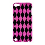 DIAMOND1 BLACK MARBLE & PINK BRUSHED METAL Apple iPod Touch 5 Hardshell Case