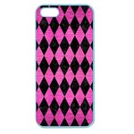 DIAMOND1 BLACK MARBLE & PINK BRUSHED METAL Apple Seamless iPhone 5 Case (Color)