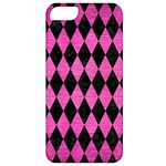 DIAMOND1 BLACK MARBLE & PINK BRUSHED METAL Apple iPhone 5 Classic Hardshell Case