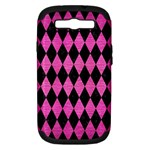 DIAMOND1 BLACK MARBLE & PINK BRUSHED METAL Samsung Galaxy S III Hardshell Case (PC+Silicone)