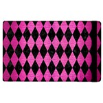 DIAMOND1 BLACK MARBLE & PINK BRUSHED METAL Apple iPad 3/4 Flip Case