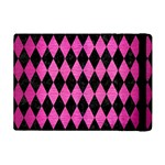 DIAMOND1 BLACK MARBLE & PINK BRUSHED METAL Apple iPad Mini Flip Case