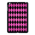 DIAMOND1 BLACK MARBLE & PINK BRUSHED METAL Apple iPad Mini Case (Black)