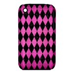 DIAMOND1 BLACK MARBLE & PINK BRUSHED METAL iPhone 3S/3GS