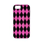 DIAMOND1 BLACK MARBLE & PINK BRUSHED METAL Apple iPhone 5 Classic Hardshell Case (PC+Silicone)