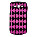 DIAMOND1 BLACK MARBLE & PINK BRUSHED METAL Samsung Galaxy S III Classic Hardshell Case (PC+Silicone)