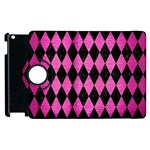 DIAMOND1 BLACK MARBLE & PINK BRUSHED METAL Apple iPad 2 Flip 360 Case