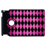 DIAMOND1 BLACK MARBLE & PINK BRUSHED METAL Apple iPad 3/4 Flip 360 Case