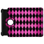 DIAMOND1 BLACK MARBLE & PINK BRUSHED METAL Kindle Fire HD 7