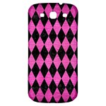 DIAMOND1 BLACK MARBLE & PINK BRUSHED METAL Samsung Galaxy S3 S III Classic Hardshell Back Case