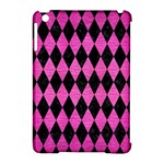 DIAMOND1 BLACK MARBLE & PINK BRUSHED METAL Apple iPad Mini Hardshell Case (Compatible with Smart Cover)