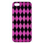 DIAMOND1 BLACK MARBLE & PINK BRUSHED METAL Apple iPhone 5 Premium Hardshell Case