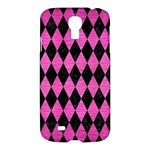 DIAMOND1 BLACK MARBLE & PINK BRUSHED METAL Samsung Galaxy S4 I9500/I9505 Hardshell Case