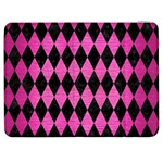 DIAMOND1 BLACK MARBLE & PINK BRUSHED METAL Samsung Galaxy Tab 7  P1000 Flip Case
