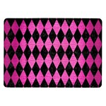DIAMOND1 BLACK MARBLE & PINK BRUSHED METAL Samsung Galaxy Tab 10.1  P7500 Flip Case