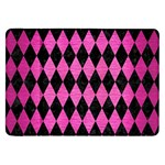 DIAMOND1 BLACK MARBLE & PINK BRUSHED METAL Samsung Galaxy Tab 8.9  P7300 Flip Case