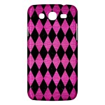 DIAMOND1 BLACK MARBLE & PINK BRUSHED METAL Samsung Galaxy Mega 5.8 I9152 Hardshell Case