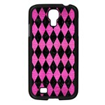 DIAMOND1 BLACK MARBLE & PINK BRUSHED METAL Samsung Galaxy S4 I9500/ I9505 Case (Black)