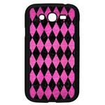 DIAMOND1 BLACK MARBLE & PINK BRUSHED METAL Samsung Galaxy Grand DUOS I9082 Case (Black)