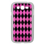 DIAMOND1 BLACK MARBLE & PINK BRUSHED METAL Samsung Galaxy Grand DUOS I9082 Case (White)