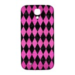 DIAMOND1 BLACK MARBLE & PINK BRUSHED METAL Samsung Galaxy S4 I9500/I9505  Hardshell Back Case