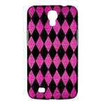 DIAMOND1 BLACK MARBLE & PINK BRUSHED METAL Samsung Galaxy Mega 6.3  I9200 Hardshell Case