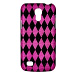 DIAMOND1 BLACK MARBLE & PINK BRUSHED METAL Galaxy S4 Mini