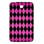 DIAMOND1 BLACK MARBLE & PINK BRUSHED METAL Samsung Galaxy Tab 3 (7 ) P3200 Hardshell Case