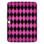 DIAMOND1 BLACK MARBLE & PINK BRUSHED METAL Samsung Galaxy Tab 3 (10.1 ) P5200 Hardshell Case