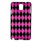 DIAMOND1 BLACK MARBLE & PINK BRUSHED METAL Samsung Galaxy Note 3 N9005 Hardshell Case