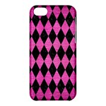 DIAMOND1 BLACK MARBLE & PINK BRUSHED METAL Apple iPhone 5C Hardshell Case