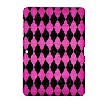 DIAMOND1 BLACK MARBLE & PINK BRUSHED METAL Samsung Galaxy Tab 2 (10.1 ) P5100 Hardshell Case