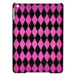 DIAMOND1 BLACK MARBLE & PINK BRUSHED METAL iPad Air Hardshell Cases