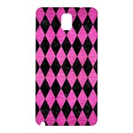DIAMOND1 BLACK MARBLE & PINK BRUSHED METAL Samsung Galaxy Note 3 N9005 Hardshell Back Case