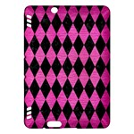 DIAMOND1 BLACK MARBLE & PINK BRUSHED METAL Kindle Fire HDX Hardshell Case