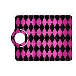 DIAMOND1 BLACK MARBLE & PINK BRUSHED METAL Kindle Fire HD (2013) Flip 360 Case