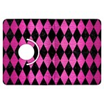 DIAMOND1 BLACK MARBLE & PINK BRUSHED METAL Kindle Fire HDX Flip 360 Case