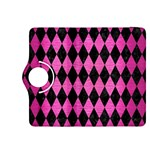 DIAMOND1 BLACK MARBLE & PINK BRUSHED METAL Kindle Fire HDX 8.9  Flip 360 Case