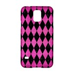 DIAMOND1 BLACK MARBLE & PINK BRUSHED METAL Samsung Galaxy S5 Hardshell Case