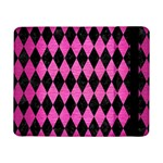 DIAMOND1 BLACK MARBLE & PINK BRUSHED METAL Samsung Galaxy Tab Pro 8.4  Flip Case