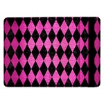 DIAMOND1 BLACK MARBLE & PINK BRUSHED METAL Samsung Galaxy Tab Pro 12.2  Flip Case
