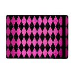 DIAMOND1 BLACK MARBLE & PINK BRUSHED METAL iPad Mini 2 Flip Cases