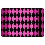 DIAMOND1 BLACK MARBLE & PINK BRUSHED METAL iPad Air Flip