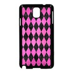 DIAMOND1 BLACK MARBLE & PINK BRUSHED METAL Samsung Galaxy Note 3 Neo Hardshell Case (Black)