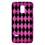 DIAMOND1 BLACK MARBLE & PINK BRUSHED METAL Galaxy S5 Mini