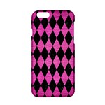 DIAMOND1 BLACK MARBLE & PINK BRUSHED METAL Apple iPhone 6/6S Hardshell Case